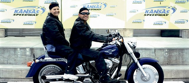 Connie Ingle and William Bagwell, both of Lawrence, plan to take to the road Sunday with other bikers for the annual March of Dimes Bikers for Babies.