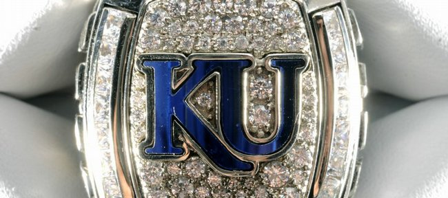 Coach Bill Self's national championship ring.