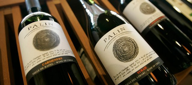 Right, a bottle of syrah Palin wine