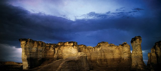"""Monument Rocks,"" taken in Gove County by Edward C. Robison III."