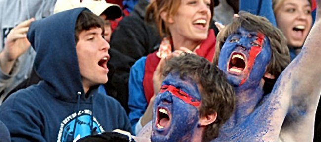 "Kansas University's student newspaper is letting students vote on alternatives to a vulgar chant currently yelled at KU football games. Students will be asked to vote online today for either ""Go : Jayhawks!"" or ""Kayyyyyyyy (kick) Youuuuuuuu!"""