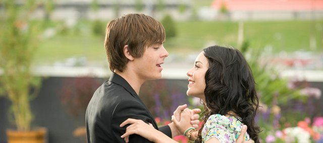 "Zac Efron and Vanessa Hudgens share a duet in ""High School Musical 3: Senior Year."""