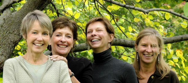 It was 10 years ago that these four Lawrence friends, Linda Lungstrum, 61, left, Bonnie Wells, 58, Marsha Buhler, 54, and Joanne Renfro, 49, began taking an annual trip together in celebration of Linda's becoming cancer-free. The four recently returned from a hiking trip to Cinque Terra, Italy.