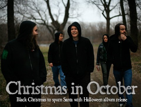 Black Christmas (l to r) is Mark Sanders,  Tony Sitting Up, Dalin Horner, Renata Castagna, and Nathan Whitman.