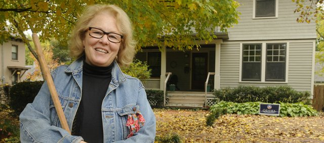 Carol Pilant's home in Old West Lawrence is one of this year's Applause Awards winners. OWL residents award their neighbors for efforts to improve their homes and beautify the neighborhood.