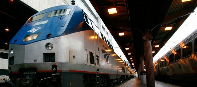 the Capitol Limited Amtrak train arrives in Washington from Chicago in this February 2007 file photo. After half a century as more of a curiosity than a convenience, passenger trains are getting back on track in some parts of the country.