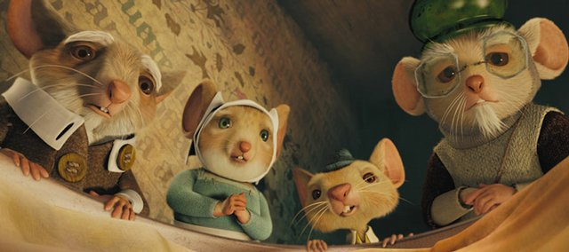 "This photo released by Universal Pictures shows the Tilling family gathering around baby Despereaux (voiced by Matthew Broderick) in the animated adventure that tells a story of bravery, forgiveness and redemption: ""The Tale of Despereaux"".  Written by Kate DiCamillo, ""The Tale of Despereaux,"" which has remained at the top of best-seller lists and is about to hit movie screens in an animated version featuring the voices of Matthew Broderick, Dustin Hoffman and Tracey Ullman."