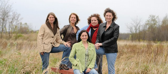 A few of the real housewives of Douglas County, from left: Tracey Kastens, Laura Dahnert, Lisa Patrick, Lana Grove and Susan Eagle.
