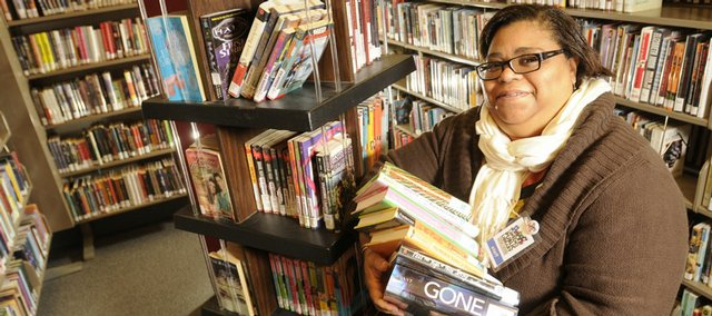 Kim Patton, who established the young adult section at the Lawrence Public Library, has been nominated for a national library honor.