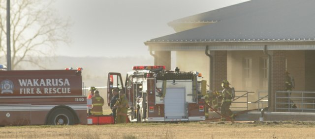 Several area fire departments were summoned to the the new United Methodist Church in southwest Eudora at around 3:30 p.m.Monday. Smoke was seen from the east side as firefighters brought in tankers and water to bring the fire under control.