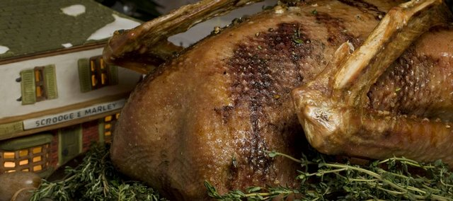 Peppercorn-and-Thyme-Roasted Goose.