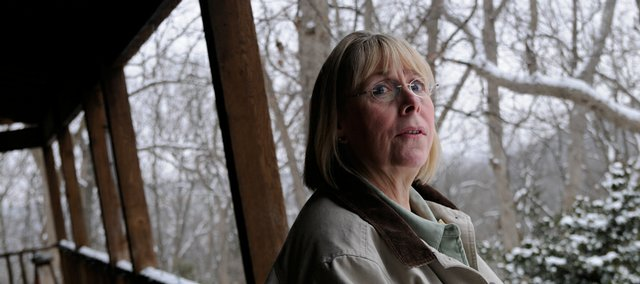 Beth Hoffman, who lives in rural Douglas County northwest of Lecompton, would like a law preventing hunters from coming within a certain distance of the house.