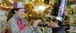 Lawrence residents Alexandra Wendt, 14, and Aiden Wendt, 11, shop for their New Year's Eve party supplies Monday at Party America, 1441 W. 23rd St.