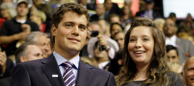 This Sept. 3 file photo shows Bristol Palin, daughter of Alaska Gov. Sarah Palin and former Republican vice presidential candidate, and her boyfriend, Levi Johnston, at the Republican National Convention in St. Paul, Minn. People magazine reports that Palin gave birth to her son, Tripp Easton Mitchell Johnston, on Saturday.