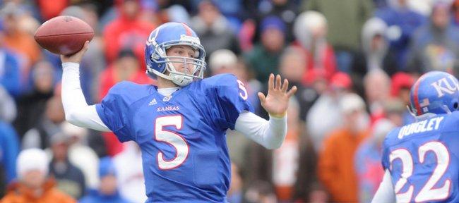 Kansas University quarterback Todd Reesing throws against Texas in this Nov. 15 file photo at Memorial Stadium.