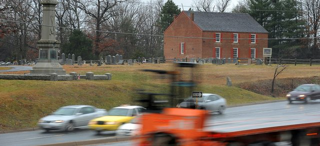 A view from the Salem Church Battlefield site is seen Dec. 10 in Fredericksburg, Va. Wal-Mart wants to build a Supercenter within a cannonshot of where Robert E. Lee and Ulysses S. Grant first fought, a proposal that has preservationists rallying to protect the key Civil War site.