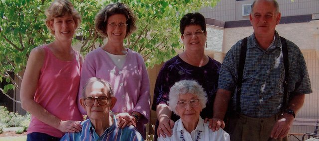 Former state Rep. Jessie Branson and her husband, Vernon, are shown with their children, back row from left, Rosemary Jones, Johanna Branson, Martha Berger and Sam Branson. Jessie Branson, 88, died Saturday.