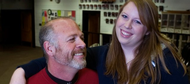 Steve Nilhas, principal of Lawrence High School, has a daughter, Morgan, who is a senior at the school this year.