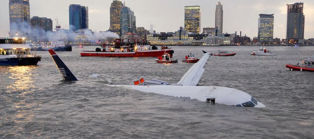 An Airbus 320 US Airways aircraft that went down in the Hudson River is seen in New York, Thursday, Jan. 15, 2008