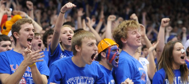 """A """"quintessential"""" Kansas University experience: Seeing a basketball game at Allen Fieldhouse."""