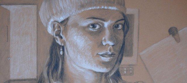 """Self Portrait,"" by Jenny Aucott of Free State, Best of Show winner."