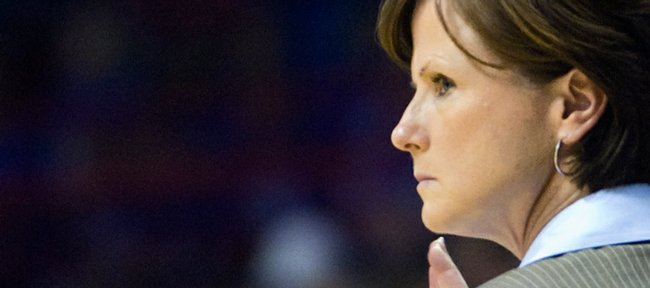 KU women's basketball head coach Bonnie Henrickson