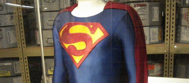 "A Superman costume — one worn by Dean Cain during his turn on ""Lois & Clark: The New Adventures of Superman"" TV series — is on display in the Kansas Underground Salt Museum in Hutchinson. And no, there aren't any of Teri Hatcher's costumes on display."