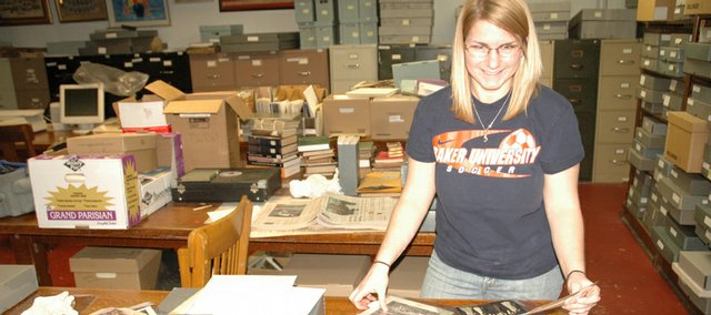 Tracy Light, a Baker University student from Naples, Italy, is working on a documentary about W.C. Bauer, a professor of physics and chemistry who in 1906 brought electricity to Baker and Baldwin City. The project is funded through a grant from the Kansas Humanities Council.