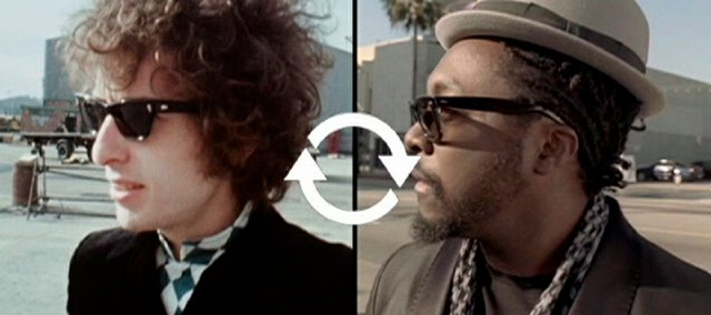 "Bob Dylan and will.i.am are seen in the Pepsi commercial ""Refresh Anthem."" Multicultural advertisements are part of a subtle strategy that marketers call ""visual diversity."""