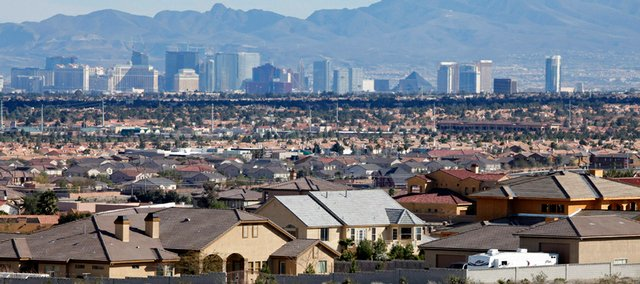 Homes are seen Wednesday in Las Vegas. The Obama administration's housing plan is intended to help nine million struggling homeowners avoid foreclosure, but it leaves out tens of thousands of borrowers in the most battered housing markets who won't qualify because their homes have lost too much value.