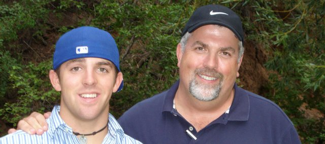 Jason Wren with his father, Jay.