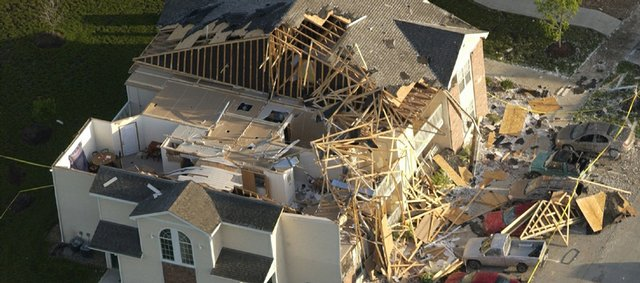 Aberdeen Apartments in southwest Lawrence were hit by a tornado May 8, 2003, where some buildings had to be demolished.