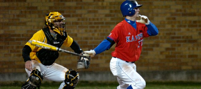 Robby Price hit a double, scoring two runners in the sixth inning Wednesday.