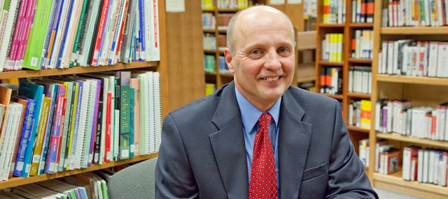 Rick Doll has been selected as the new superintendent of the Lawrence public schools. Doll, seen Wednesday, will start his new job in July.