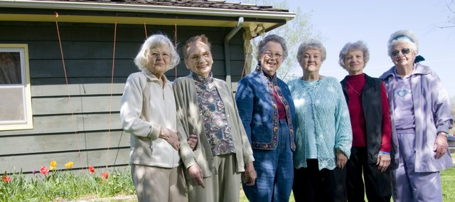 The Green Thumb Garden Club is celebrating its 50th anniversary this year. From left are Mildred Kratt, Ruth Sleeper, Mary Margaret Rowen, Virginia Williams, Phyllis Ogburn and Jane Jewel.