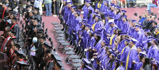 Over 100 graduates received their diplomas in Haskell University's 125th graduating class Friday, May 8, 2009.
