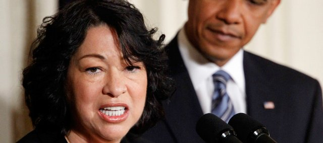 President Obama and Supreme Court nominee Sonia Sotomayor Tuesday at the White House.