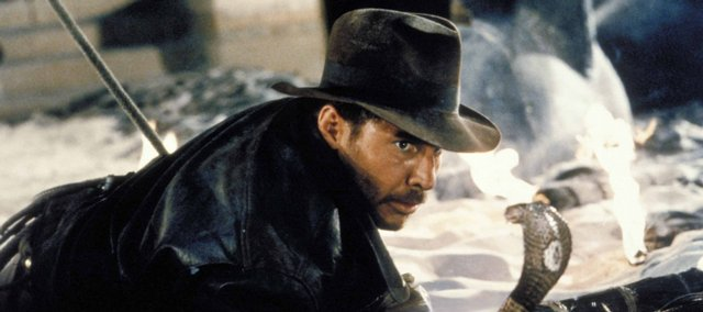 "Harrison Ford stumbles across his dreaded nemesis in ""Raiders of the Lost Ark."""