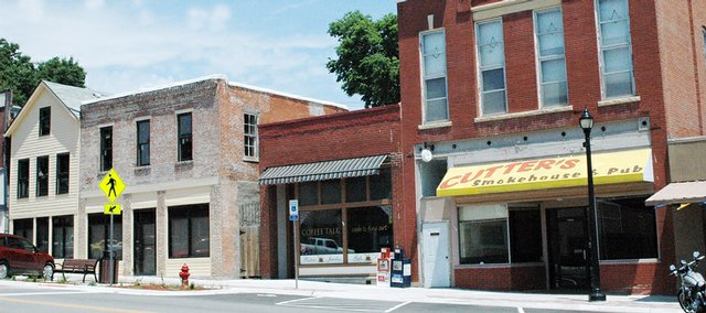 Buildings sit empty in downtown Eudora between 714 and 724 Main St.
