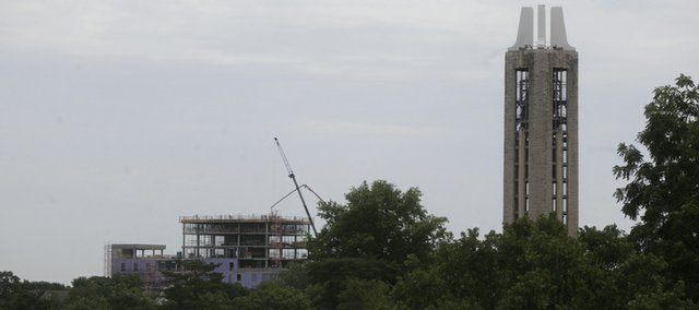 You can't help but notice the tall building going up along the Lawrence skyline as The Oread near completion in the coming months.