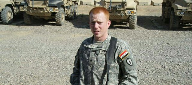 David Conway II, a 22-year-old Army specialist and 2005 Lawrence High School graduate, suffered leg injuries on Sunday due to an improvised explosive device near Sharqat, Iraq. Conway's grandfather, Isaac Conway, said he is expected to recover from his injuries.