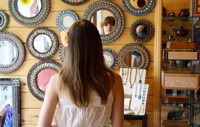 Handmade mosaic mirrors at the Phoenix Gallery will be 15% off at the sidewalk sale. Lawrence tourism leaders are hoping that Friday eventually will be remembered as the day that Lawrence took its first big step in becoming known as the art capital of the Midwest.