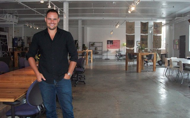 Shaul Jolles, co-owner of Office Port in Kansas City's Crossroads District.