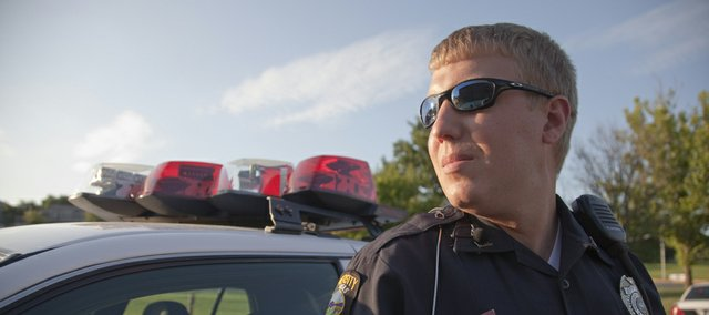 Officer James Druen, with Kansas University Public Safety Office, is one of 29 commissioned officers employed by KU to investigate and solve crimes on campus, and otherwise keep the peace at KU.