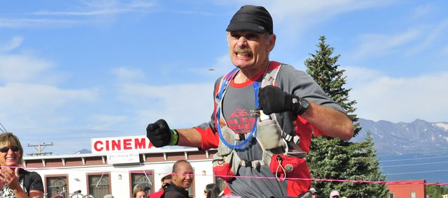 Lawrence resident Gary Henry runs the 100-mile Leadville Trail 100 last weekend in Colorado.