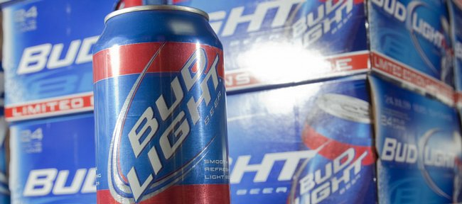 Bud Light is selling special edition cans of beer in Kansas University colors. The beer is only sold in a 24 pack, which also features the colors of KU.