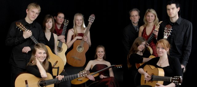 Andreas van Zoest and the Carl Maria von Weber Guitar Orchestra will perform at 2 p.m. Oct. 11  at the Lawrence Arts Center, 940 N.H.
