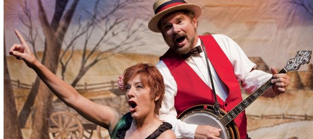 """Jeanne and Ric Averill rehearse the melodrama """"Dangerous Damsels,"""" a revival of one of their 1990s productions from Apple Valley Farm Theatre."""