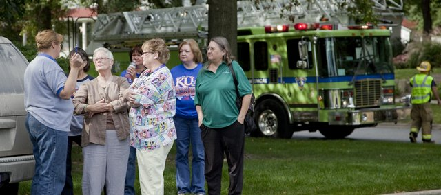 Staff and patients of the Reed Medical Group, 404 Maine St., were evacuated outside their building Friday morning after a nearby gas leak. Reed Medical Group decided to close for the day.