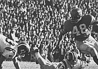 Former Kansas University running back Gale Sayers turns it upfield in this photo against Missouri at Memorial Stadium in Lawrence. Many of today's Jayhawks respect Sayers as the greatest player to ever put on a KU uniform.